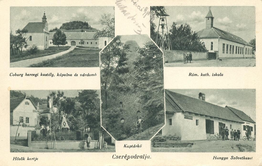 Coburg hercegi kastély, kápolna és várdomb.